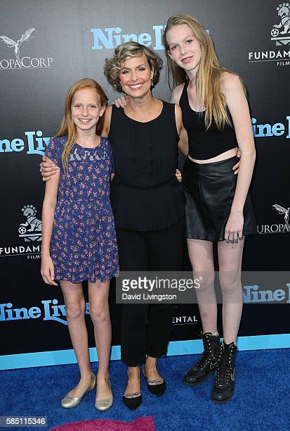 Actress Melora Hardin and daughters Piper Quincey Jackson and Rory Jackson attend the premiere of EuropaCorp's Nine Lives at the TCL Chinese Theatre...
