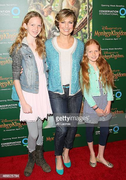 Actress Melora Hardin and daughters Rory Jackson and Piper Quincey Jackson attend the world premiere of Disney's 'Monkey Kingdom' at Pacific Theatres...