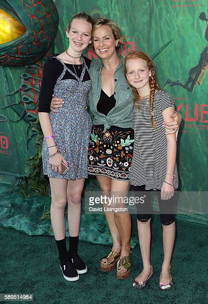 Actress Melora Hardin and daughters Rory Jackson and Piper Quincey Jackson attend the premiere of Focus Features' Kubo and the Two Strings at AMC...