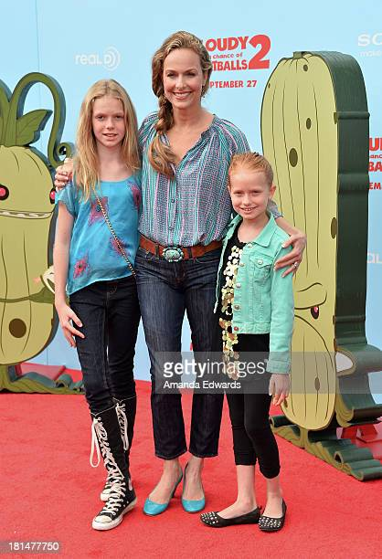 Actress Melora Hardin and her daughters Rory Jackson and Piper Quincey Jackson arrive at the Los Angeles premiere of Cloudy With A Chance Of...