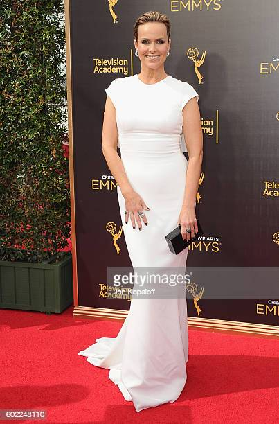 Actress Melora Hardin arrives at the 2016 Creative Arts Emmy Awards at Microsoft Theater on September 10 2016 in Los Angeles California