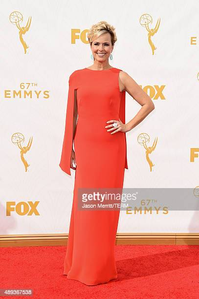 Actress Melora Hardin attends the 67th Annual Primetime Emmy Awards at Microsoft Theater on September 20 2015 in Los Angeles California