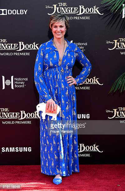 Actress Melora Hardin attends the premiere of Disney's The Jungle Book at the El Capitan Theatre on April 4 2016 in Hollywood California