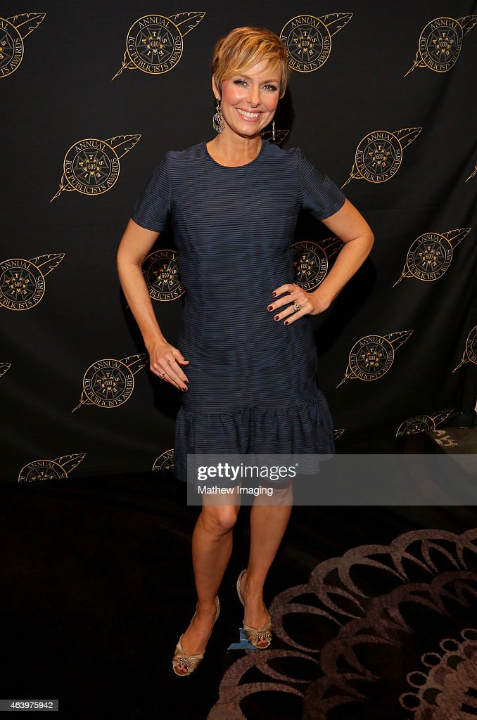 Actress Melora Hardin poses backstage at the 52nd Annual ICG Publicists Awards at The Beverly Hilton Hotel on February 20, 2015 in Beverly Hills, California.