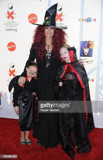 Actress Melora Hardin with daughters Piper Quincey Jackson Rory Jackso arrive at the Children Affected By AIDS Foundation's 17th Annual Dream...