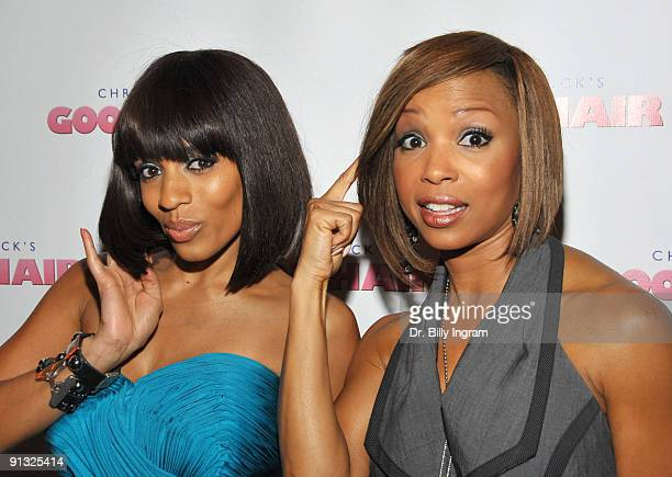Actress Melyssa Ford and actress Elise Neal arrive at the Los Angeles premiere of 'Good Hair' at the Majestic Crest Theatre on October 1 2009 in Los...
