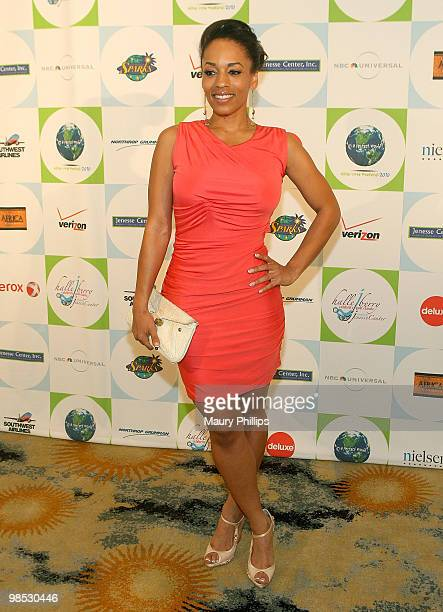 Actress Melyssa Ford arrives at the 2010 Silver Rose Gala Auction at the Beverly Hills Hotel on April 18 2010 in Beverly Hills California
