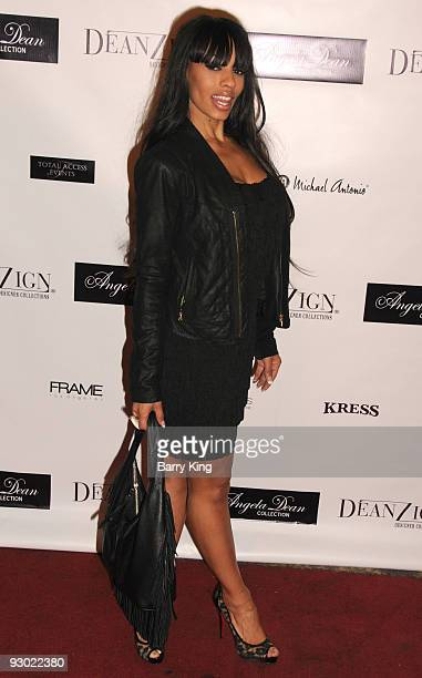 Actress Melyssa Ford arrives at the Angela Dean Fashion Show and launch party for the new ''Dean RTW'' Collection held at The Kress on November 12...