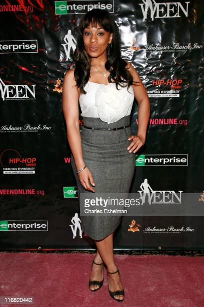 Actress Melyssa Ford arrives at the Women in Entertainment Empowerment Network 'Don't Judge MeEmPower Me' tour kickoff at the Hammerstein Ballroom on...