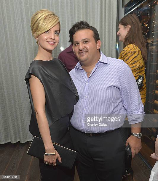 Actress Mena Suvari and Tribe Hotel Nairobi's Shamim Ehsani attend GenArt's 14th Annual Fresh Faces In Fashion Intimate Dinner at Andaz on October 15...
