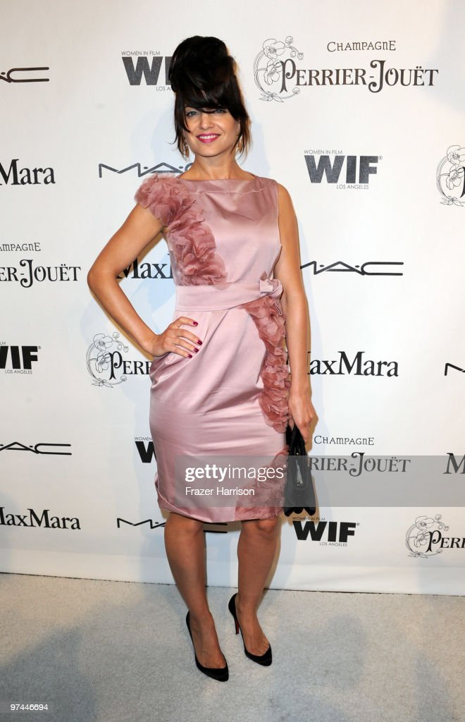 Actress Mena Suvari arrives at the 3rd Annual Women In Film Pre-Oscar Party at a private residence in Bel Air on March 4, 2010 in Los Angeles, California.