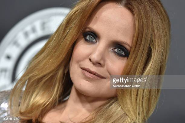 Actress Mena Suvari arrives at The Art of Elysium's 11th Annual Celebration Heaven at Barker Hangar on January 6 2018 in Santa Monica California