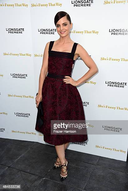 Actress Mena Suvari arrives at the Premiere Of Lionsgate Premiere's She's Funny That Way at Harmony Gold on August 19 2015 in Los Angeles California