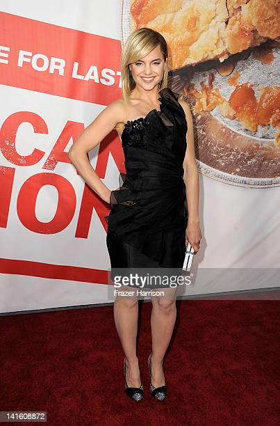 Actress Mena Suvari arrives at the Premiere of Universal Pictures' American Reunion at Grauman's Chinese Theatre on March 19 2012 in Hollywood...
