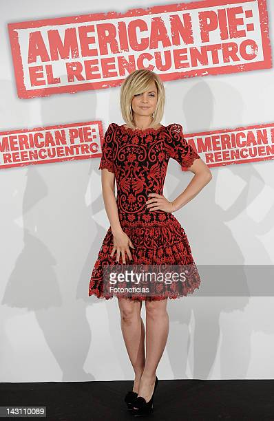 Actress Mena Suvari attends a photocall for 'American Pie: Reunion' at the Villamagna Hotel on April 19, 2012 in Madrid, Spain.
