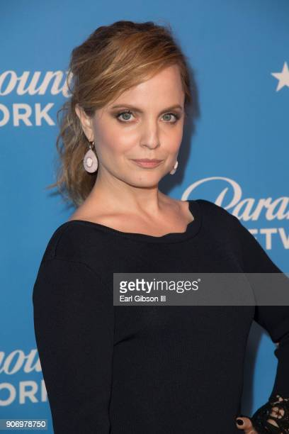 Actress Mena Suvari attends Paramount Network Launch Party at Sunset Tower on January 18 2018 in Los Angeles California