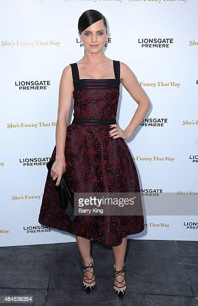 Actress Mena Suvari attends the Los Angeles Premiere of Lionsgate's 'She's Funny That Way' at Harmony Gold on August 19 2015 in Los Angeles California