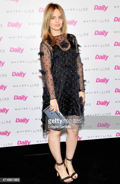 Actress Mena Suvari attends the Maybelline New York and The Daily Front Row Fashion Hollywood Luncheon at Cecconi's Restaurant on February 25 2014 in...