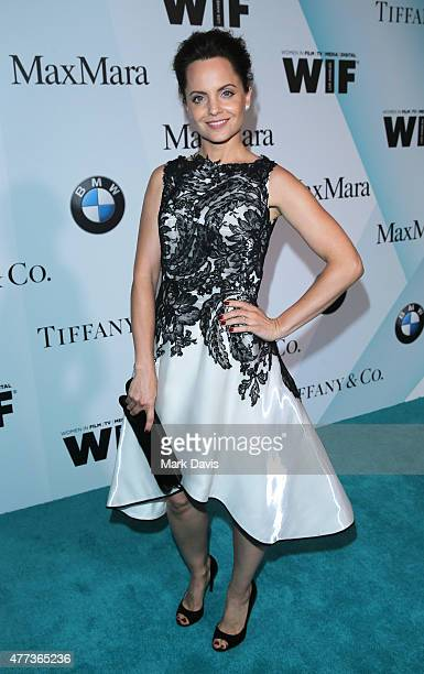 Actress Mena Suvari attends Women In Film 2015 Crystal Lucy Awards Presented by Max Mara BMW of North America and Tiffany Co at the Hyatt Regency...