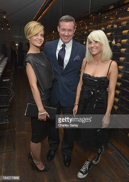Actress Mena Suvari General Manager Andaz Phillip Dailey and stylist Taylor Jacobsen attend GenArt's 14th Annual Fresh Faces In Fashion Intimate...