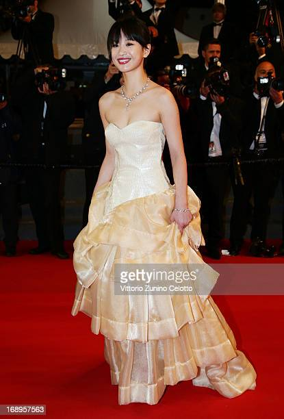Actress Meng Li attends the Premiere of 'Tian Zhu Ding' during The 66th Annual Cannes Film Festival at Palais des Festivals on May 17 2013 in Cannes...