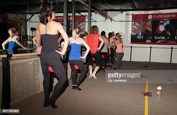 Actress Mercedes Griffeth attends Pure Barre Hosts Popup Studio Day 4 2015 Park City on January 26 2015 in Park City Utah
