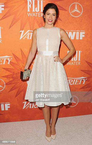 Actress Mercedes Masohn arrives at the Variety And Women In Film Annual PreEmmy Celebration at Gracias Madre on September 18 2015 in West Hollywood...