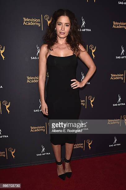 Actress Mercedes Masohn attends the Television Academy And SAGAFTRA's 4th Annual Dynamic and Diverse Celebration at The Saban Media Center on August...