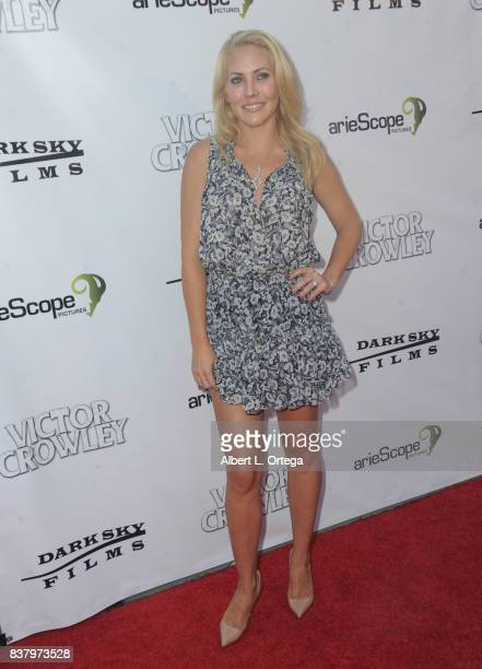 Actress Mercedes McNab arrives for the 'Hatchet' 10th Anniversary Celebration held at ArcLight Cinemas on August 22 2017 in Hollywood California