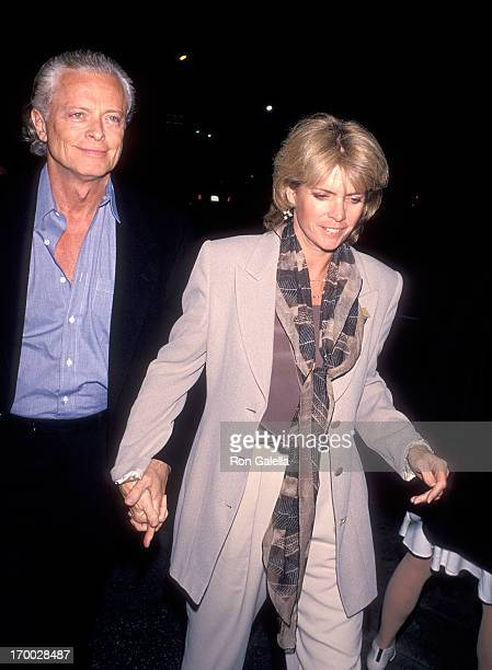 Actress Meredith Baxter and boyfriend actor Michael Blodgett attend Ahmanson/Center Theatre Group's Opening Night Play Production of The Woman...
