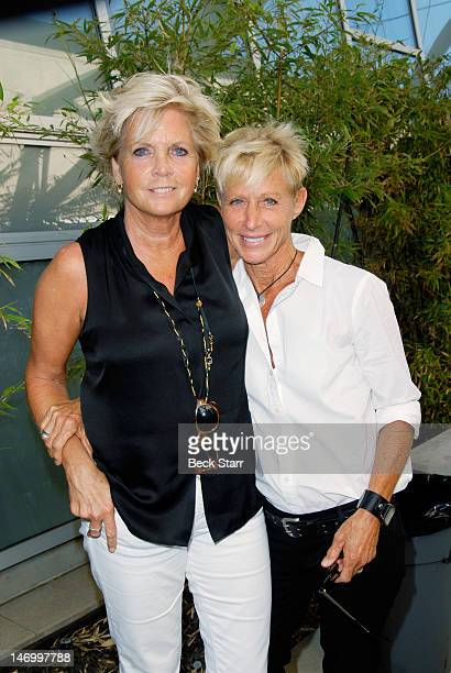 Actress Meredith Baxter and her partner actress Nancy Locke attend Outfest VIP Women's Soiree at Gallery Lofts on June 24 2012 in Los Angeles...