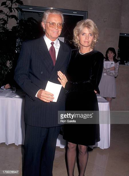 Actress Meredith Baxter and husband actor Michael Blodgett attend the 48th Annual Writers Guild of America Awards on March 17 1996 at the Beverly...