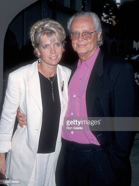 Actress Meredith Baxter and husband actor Michael Blodgett attend the CBS Summer TCA Press Tour on July 24 1998 at the RitzCarlton Hotel in Pasadena...
