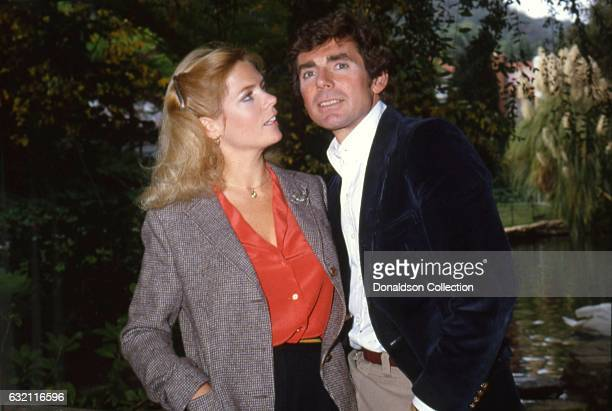 Actress Meredith BaxterBirney and her husband David Birney poses for a portrait session at home in circa 1982 in Los Angeles California