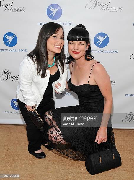 Actress Meredith Eaton and Project Angel Food Honoree actress Pauley Perrette attend the 17th Annual Angel Awards at Project Angel Food on August 18...