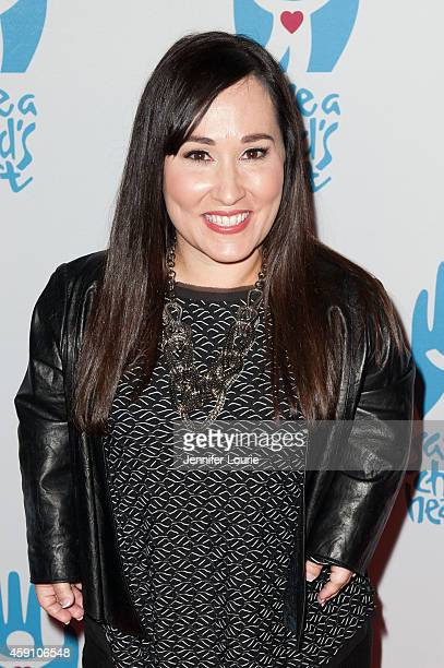 Actress Meredith Eaton arrives at Save A Child's Heart Celebration Honorary Ceremony at Sony Studios on November 16 2014 in Los Angeles California