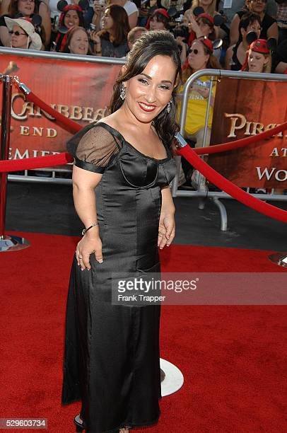 Actress Meredith Eaton arrives at the world premiere of Pirates of the Caribbean At World's End held at Disneyland in Anaheim