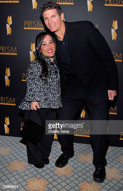 Actress Meredith EatonGilden and her brother Howard arrive to the 11th annual PRISM Awards at the Beverly Hills Hotel on April 24 2007 in Beverly...