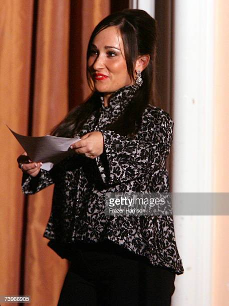 Actress Meredith EatonGilden presents the Best Original DVD award onstage during the 11th annual PRISM Awards at the Beverly Hills Hotel on April 24...