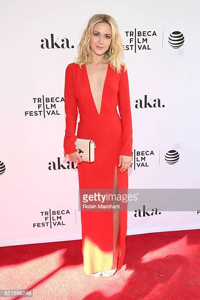 """Actress Meredith Hagner attends the """"Folk Hero & Funny Guy"""" Premiere during the 2016 Tribeca Film Festival at SVA Theater 1 on April 16, 2016 in New..."""