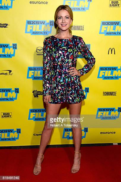 Actress Meredith Hagner attends the premiere of Search Party during the 2016 SXSW Music Film Interactive Festival at Vimeo on March 13 2016 in Austin...