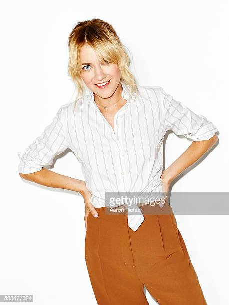 Actress Meredith Hagner is photographed for Aritzia #FallForUs in 2014 in New York City. PUBLISHED IMAGE.