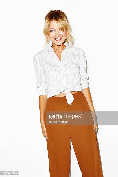 Actress Meredith Hagner is photographed for Aritzia #FallForUs in 2014 in New York City PUBLISHED IMAGE