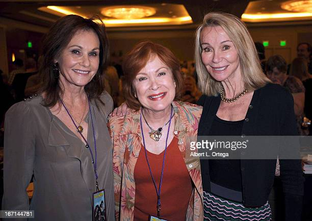 Actress Meredith MacRae actress Linda Henning and actress Lori Saunders of Petticoat Junction attend The Hollywood Show held at Westin LAX Hotel on...