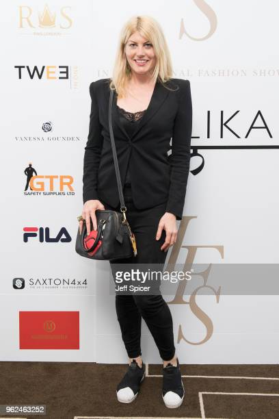 Actress Meredith Ostrom attends the inaugural International Fashion Show at Rosewood Hotel on May 25 2018 in London England