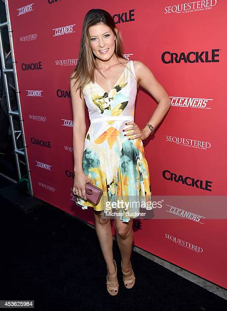 """Actress Meredith Pyle attends Crackle Presents: Summer Premieres Event for originals, """"Sequestered"""" and """"Cleaners"""" at 1 OAK on August 14, 2014 in..."""