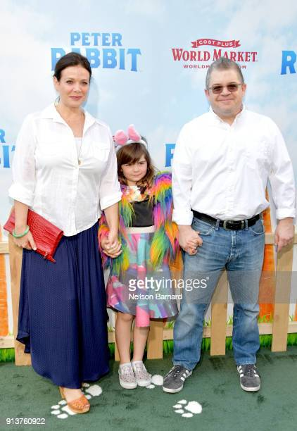 Actress Meredith Salenger Alice Rigney Oswalt and actor/comedian Patton Oswalt attend the premiere of Columbia Pictures' 'Peter Rabbit' at The Grove...