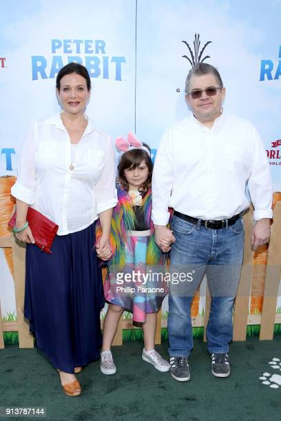 Actress Meredith Salenger Alice Rigney Oswalt and actor/comedian Patton Oswalt attend the premiere of 'Peter Rabbit' sponsored by Cost Plus World...
