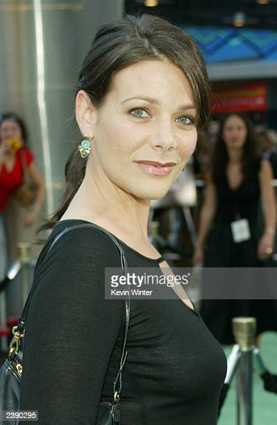 Actress Meredith Salenger attends the premiere of Project Greenlight 2's The Battle of Shaker Heights at Universal Citywalk August 11 2003 in...
