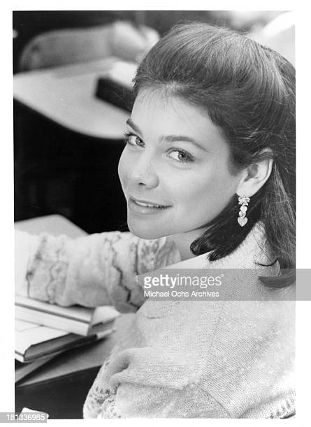 Actress Meredith Salenger on set of the TV Movie My Town in 1986